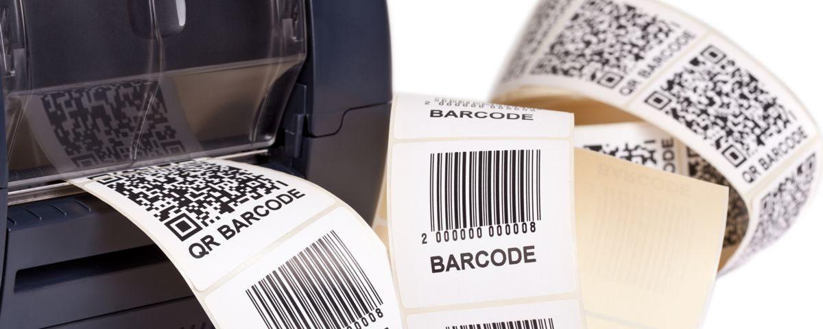 Drukarka etykiet z etykiety z kodami