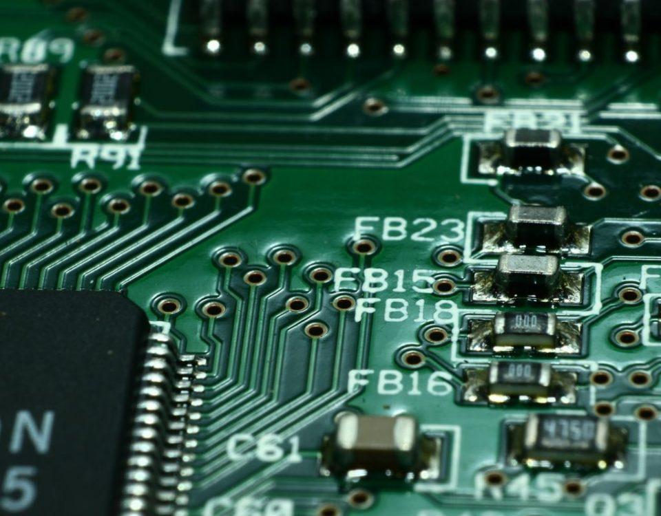 Płyta główna komputera przemysłowego.